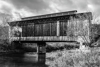 Photograph - Fisher Covered Bridge Wolcott Vermont by Edward Fielding