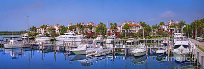 Photograph - Fisher Island Miami Private Marina by David Zanzinger