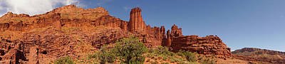 Photograph - Fisher Towers Colorado River Scenic Byway Utah Panorama by Lawrence S Richardson Jr