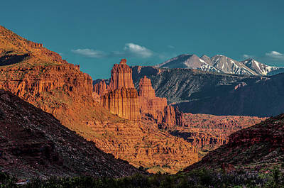 Photograph - Fisher Towers by Peter Tellone