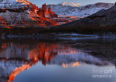 Moenkopi Sandstone Photograph - Fisher Towers Red Rock Reflections by Adam Jewell