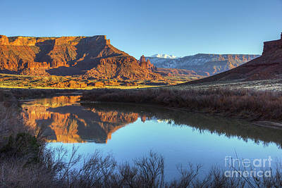Photograph - Colorado River, Fisher Towers, And La Sal Mountains by Spencer Baugh