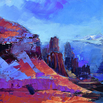 Painting - Fisher Towers Test by Elise Palmigiani