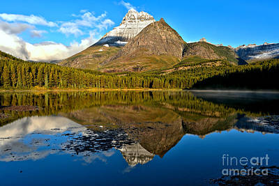 Photograph - Fishercap Snowcap Reflections by Adam Jewell