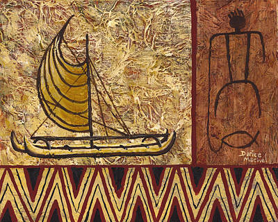 Painting - Fisherman And Canoe by Darice Machel McGuire