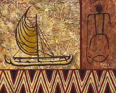 Painting - Fisherman And Canoe by Darice Machel McGuire