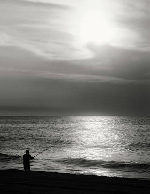 Photograph - Fisherman At The Beach by Paul Seymour
