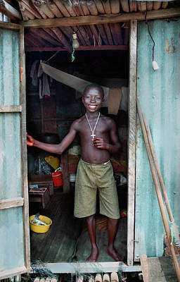 Photograph - Fisherman Boy by Muyiwa OSIFUYE