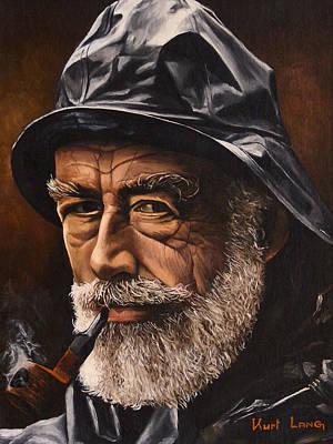 Sea Captain Painting - Fisherman By Kurt Lang by Michael Lang