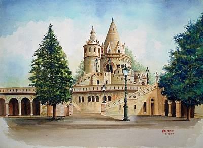 Painting - Fisherman Castle by Charles Hetenyi