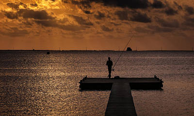 Muelle Photograph - Fisherman by Hernan Bua