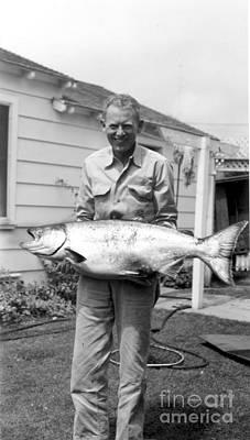 Photograph - Fisherman Holding A King Salman by California Views Mr Pat Hathaway Archives