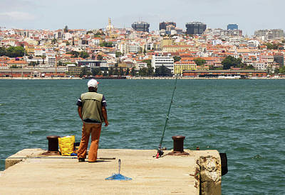 Photograph - Fisherman In Lisbon by Helissa Grundemann