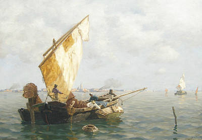 Painting - Fisherman In Venice by Ludwig Dill