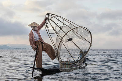 Myanmar Photograph - Fisherman Inle Lake - Myanmar by Joana Kruse