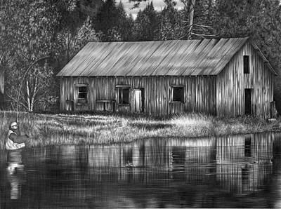 Fisherman Art Print by Jerry Winick