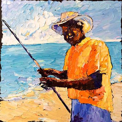 Painting - Fisherman Joe by Carrie Jacobson