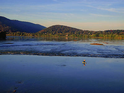 Photograph - Fisherman On The Susquehanna River 2 by Raymond Salani III