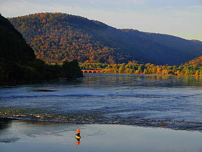 Photograph - Fisherman On The Susquehanna River by Raymond Salani III