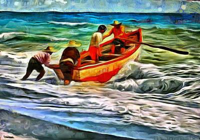 On Deck Digital Art - Fisherman by Galeria Zullian  Trompiz