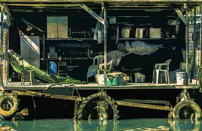 Fisherman S Hut Wooden Makeshift  Art Print by PixBreak Art