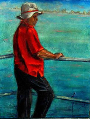 Painting - Fisherman by Sarah Barnaby