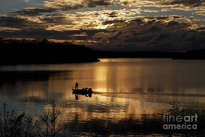 Photograph -  Sunset Fisherman 1 by Dennis Hedberg