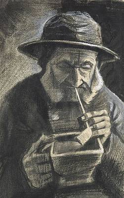 Painting - Fisherman With Sou Wester Pipe And Coal Pan The Hague January 1883 Vincent Van Gogh 1853  1890 by Artistic Panda