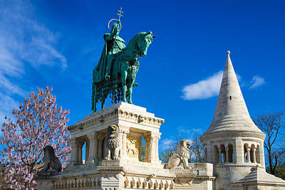 Photograph - Fishermans Bastion With Equestrian Statue King Stephan I by Matthias Hauser