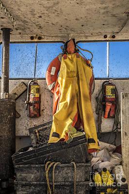 Rain Gear Photograph - Fisherman's Gear by John Greim