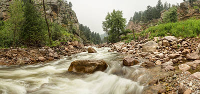 Fisherman's Panorama Colorado Canyon View Art Print by James BO  Insogna