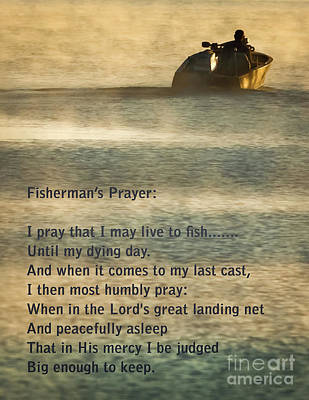 Catfish Photograph - Fisherman's Prayer by Robert Frederick