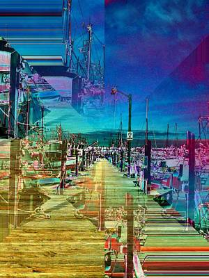 Pier Digital Art - Fishermans Terminal Pier 2 by Tim Allen