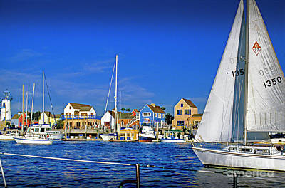 Photograph - Fishermans Village Ahoy Sailboat Abeam by David Zanzinger