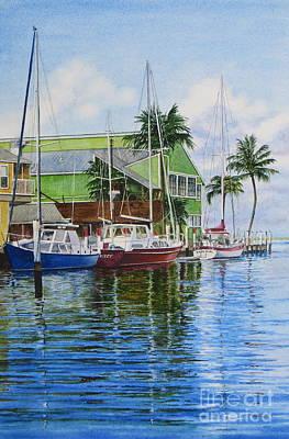 Fisherman's Village Art Print by Karol Wyckoff