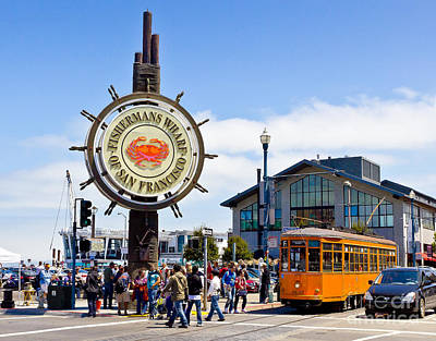 Photograph - Fishermans Wharf - San Francisco by John Waclo
