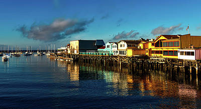 Fisherman's Wharf At Dusk Art Print