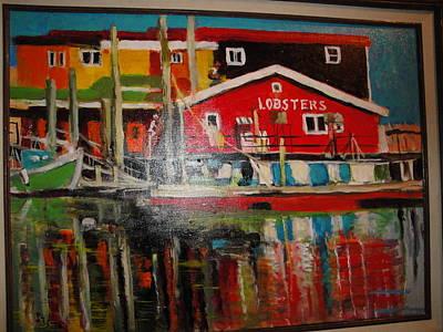 Fishermans Wharf Art Print by Les Smith