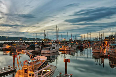 Print featuring the photograph Fishermans Wharf by Randy Hall