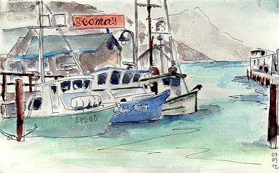 Painting - Fishermans Wharf, San Francisco by Tom Simmons