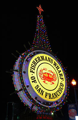 Photograph - Fishermans Wharf Sign by Robert Meyers-Lussier
