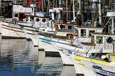 Photograph - Fisherman's Wharf With Fishing Boat  by Jim Corwin