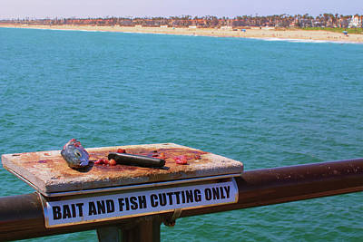 Photograph - Fisherman's Workbench - Huntington Beach California by Ram Vasudev