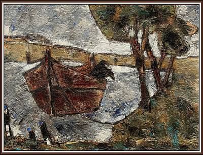 Autumn Landscape Mixed Media - Fishermen Are Gone by Pemaro