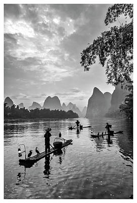 Photograph - Fishermen At Dawn. by Usha Peddamatham
