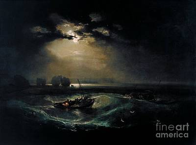 Joesph Painting - Fishermen At Sea by MotionAge Designs