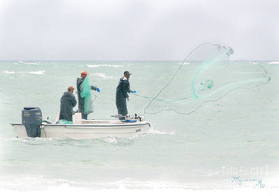 Photograph - Fishermen Casting Their Nets by Mariarosa Rockefeller