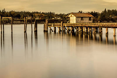 Photograph - Fishermen Fuel Dock by Tony Locke