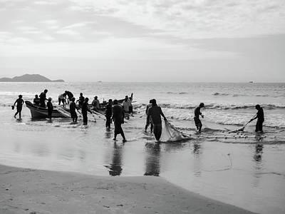 Photograph - Fishermen In Florianopolis, Brazil by Helissa Grundemann