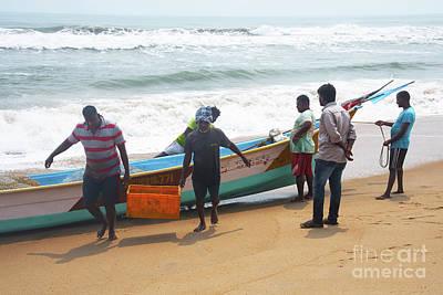 Photograph - Fishermen In India by Kiran Joshi